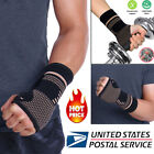 Copper Infused Wrist Support Hand Palm Brace Compression Glove Sleeves Arthritis