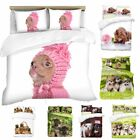3D Puppies Theme Photo Print Duvet Quilt Cover With Pillowcases