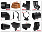 Polypipe 68mm Rainwater Round Down Pipe Fittings in Black