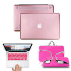 Sleeve Bag+Rubberized Case+Keyboard Skin Fr Macbook Air Pro Retina 11 12 13 15''
