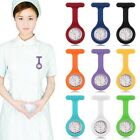 black fob watch - Silicone Nurse Watch Brooch Tunic Fob Watch With Free Battery Doctor Medical