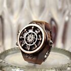 Gift Alloy Unisex Bronze Rudder Design Ring Watch Jewelry Finger Watch