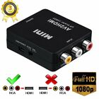 New *Optical Coaxial to Analog Audio Converter With DC/5V Digital Adapter RCA TV