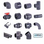 PVC Metric Solvent Weld Pressure Pipe Fittings 12mm to 75mm OD Marine Aquariums