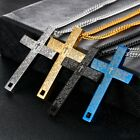 Mens Stainless Steel Pendant Lord's Prayer Cross Pendant Necklace 22 Inch