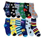 Differenttouch 12 Pairs lots  Kids Boys Novelty Design Crew