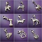 1 Tibetan silver Dog clip on charm - for bracelets dog collars so on choice of 9