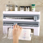 Kitchen Roll Dispenser Cling Film Tin Foil Paper Towel Holder Rack Wall Mount