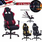 leather gaming chair - Racing Style Gaming Chair Computer High Back PU Leather Ergonomic Office Seat HM