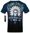 XTREME COUTURE by AFFLICTION Men T-Shirt CHIEF MOTOR Tatto Biker MMA UFC M-4X$40