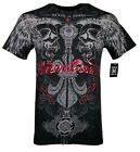 XTREME COUTURE by AFFLICTION Mens T-Shirt REVERENCE Biker BLACK Biker Gym $40 image