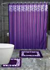 LUXURY 19PC BATHROOM SET SHOWER CURTAIN MAT RUG CERAMIC ACCESSORY STONE DESIGN