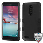 ZTE ZMax Pro Grand Blade Impact TUFF HYBRID Armor Rubber Rugged Case Phone Cover