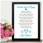 Personalised Poem for Mothers Day Walk with me NANNY NAN NANNA GRANNY GRAN MUMMY
