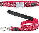 Red Dingo Flying Bones Dog Collar or Lead Red and White Bones