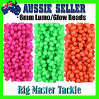 Fishing Soft Lumo/Glow Beads 200 pack 6mm Choose Pink, Green or Orange