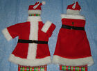 Santas Coat Mrs Claus Dress Wine Bottle Accessory Topper gift wrap red CHOICE
