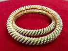 Indian Ethnic 2PC Gold Plated Kada Jewelry Bangles Pearl Bracelets Set