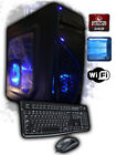 Custom Quad-Core 4.1GHz 8GB 1TB HDMI Gaming Computer Desktop PC AMD Radeon Fast