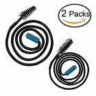 Zelta Flexible Sink Clog Removal Brush Black Drain Unclog Tool Pack of 2 Other