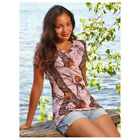 Mossy Oak Pink Camo V-Neck Shirt Womens Small