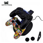 Data Frog Dual USB Charging Dock Charger PS4 PlayStation Controller Stand Holder
