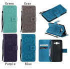 3D PU Leather Wallet Case Flip Cover Stand Card Big Sunflower Pressed for Phones