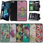 "For Apple iPhone 7 Plus (5.5"") Wallet Case Strap Stand Card Slots - Flowers"