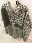 Mens BRAEVAL Tiera Artemis Brown Plaid Button Down Xl Wool Cotton Hunting Shirt