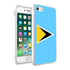 Saint Lucia Flag Printed Hard Phone Case Skin Cover For Various Models - 0050