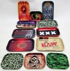 Metal Tray Rolling Papers Smokers Rizla Rolling Roll Up Prep Tobacco S/L
