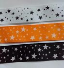 Pretty Star ribbons, 25mm, 3 colours, for cakes, bows & crafts.