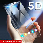 5D Curved Temper Glass Film Screen Protector for Samsung Galaxy A5 A7 A8 Plus J7