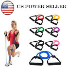 US Elastic Latex Resistance Band Pilates Tube Pull Rope Gym Yoga Fitness Sport image