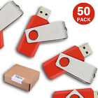 50Pack 1GB-16GB Rotating USB Flash Drive Memory Sticks Thumb Pen Drive USB2.0Red