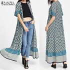 Women Shirt Tee Loose Boho Printed Cover Up Coat Beach Oversized Long Maxi Tops