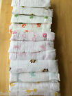 New ADEN AND ANAIS Swaddle Muslin Cotton Blanket Bee Turtle Butterfly Elephant