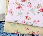 Shadow Rose floral Cotton blend Ready QUILTED Fabric Pre-quilted padded JQ37+