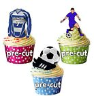 PRECUT Personalised Football Party Pack Cake Toppers Decoration Greenock Colours