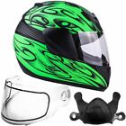 Youth Kids Snowmobile Helmet Matte Green Child DOT Small Medium Large XL