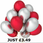 Red Silver Latex Balloons helium&air quality for birthday wedding party baloon