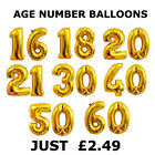 """30th Birthday Party Number 16"""" INCH Foil Balloon just Air Decoration 30 Age"""