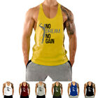 Men's Gym Tank Top Vest Bodybuilding Muscle Stronger Fitness Sleeveless T shirts image