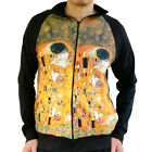 Gustav Klimt Kiss Erotic Nouveau Sweater Track Jacket Shirt Mens Fine Art Print