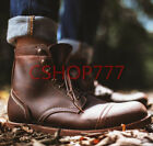 Fashion Mens Lace up ankle High Top Boots Hiking Leather outdoor Hot Sale Casual