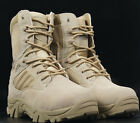 Mens Military Ankle Boot Tactical Combat Shoes Leather Comfort Desert Hiking