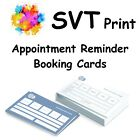 Printed Appointment/Booking Cards Single or 4 Page Folded Help With Artwork.