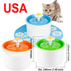 3 Colors 1.6L Auto Water Drinking Fountain Bowl Pet Dog Cat Electric+Mat+Filter