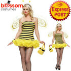 CA612 Leg Avenue Queen Bumble Bee Animal Womens Fancy Dress Up Costume + Wings
