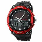 SOLAR POWER Sports Watches LED Digital Quartz Watch Waterproof Solar Watches